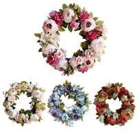 Türkranz außen innen Blumenkranz Hochzeitsdeko Tischkranz Wandkranz Blumen