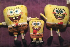 Spongebob Squarepants Plush Lot (3) Retired, older styles, Euc Nickolodeon Fav!