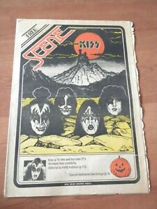 Scene newspaper magazine 1978 Kiss cover and promo ad solo albums