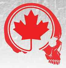 Skull Maple Leaf Vinyl Decal Sticker Canadian Flag Car Truck 4X4 Bones Skeleton
