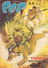 PEP 1965 nr. 40 - TOENGA (COVER)/EDDY PIETERS GRAAFLAND/ARENDSOOG/COMICS