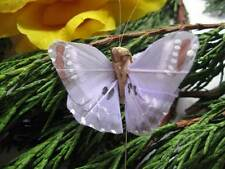 Small Lilac Feather Butterfly - Pattern Detail - 4.0cm - Set of 2