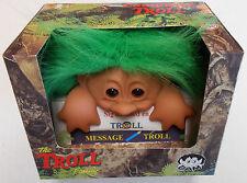 DAM Original Good Luck Computer Troll  - Green, NEW from Denmark