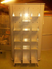 Brand New Double Sided Steel Retail Display Unit With 30 Shelves Made In Italy