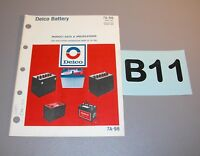 1977 Delco Battery Product Data Specifications Guide 7A-98   B11