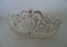 Tiara diamond bling style silver bridal headpiece wedding New crown