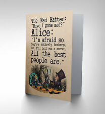 CARROLL ALICE MAD HATTER ART GREETINGS GREETING CARD GIFT CP1778