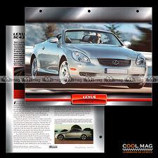 #118.10 ★ LEXUS SC 430 2001 ★ Fiche Auto Car card