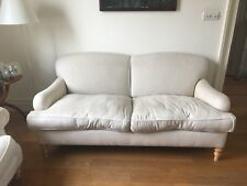 Genuine George Smith U0027Standard Arm Signature 2/ Seat Sofa. Off White Fabric.