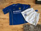 BNWT Portsmouth Football Kit Size M Pompey Sports Bishops Printers Top Shorts