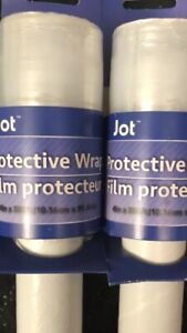 2 Rolls Protective Wrap Film 4in X 300 Feet w/ handle Jot packing plastic wrap