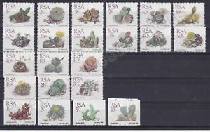 SOUTH AFRICA MNH STAMP SET 1988 SUCCULENTS  FULL SET & COIL SG 654-668A 669-672