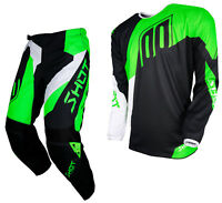 NEW 2018 SHOT ALERT MOTOCROSS MX ENDURO PANT & JERSEY COMBO KIT NEON GREEN BLACK