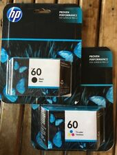 HP 60 BLACK & TRI-COLOR INK CARTRIDGE ~