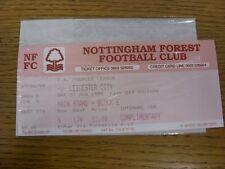 27/08/1994 Ticket: Nottingham Forest v Leicester City (complete). Thanks for vie