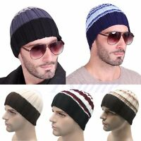 New Mens Ladies Knitted Woolly Winter Oversized Slouch Beanie Hat skateboard Cap