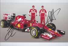 VETTEL + RÄIKKÖNEN 1 Ferrari Formel1 F1 Foto 20x30 signiert IN PERSON Autogramm