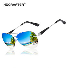 Men's Metal Polarized Sunglasses Outdoor Driving Fishing Frameless Eyewear New