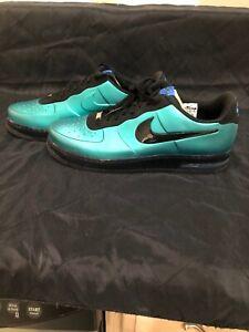 Vintage Nike Air Force 1 Foamposite Pro Low Aqua Teal 532461-300 Sz18 NBA