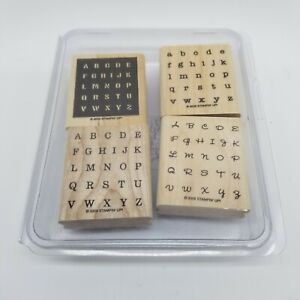 Stampin' Up! Alphabits Set Of 4 Rubber Stamps In Container