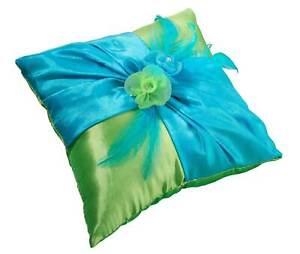 blue green ring bearer pillow wedding rings ringbearer pillow