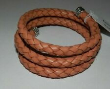 Carolyn Pollack American West Turquoise Leather Braided Wrap Coil Bracelet