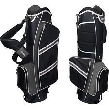 Golf Club Bag Stand Lightweight Easy Use W/ Ergo Dual Carry Strap 5 Way Divider