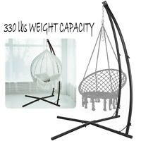 Adjustable Hammock C Steel Frame Stand Portable Steel Hanging Chair Swing Stand