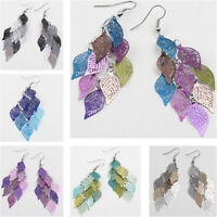 Charm Leaves Earring Bohemian Jewelry Dangle Drop Earrings Boho Retro Women Gift