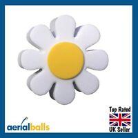 Cute White Daisy Flower Car Aerial Ball Antenna Topper - BEST SELLER