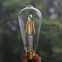 E27 ES COB LED Vintage Antique Edison Style Clear Glass Light Lamp Bulb ST64 4W