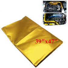 "Gold Self Adhesive Reflect 39""x47"" Heat Wrap Barrier For SUV Car Exhaust"
