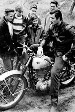 8x10 Print Clint Walker Beefcake Poses BSA Motorcycle Fans Looking on 1958 #7114