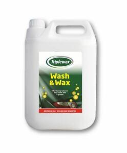 Triplewax TCS050 Car Wash Wax Shampoo 5L 5 Litres Cleaning Valeting Shine Finish