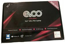 "EVOO 14"" Ultra Thin Laptop - Elite Series, FHD, 4GB Memory, 32GB Storage, Finger"