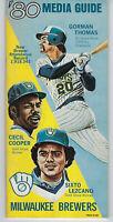 1980 Milwaukee Brewers media guide Gorman Thomas Cecil Cooper Lezcano vintage