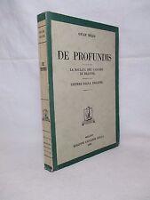 WILDE Oscar - De Profundis / La ballata del carcere di Reading - Bolla 1948
