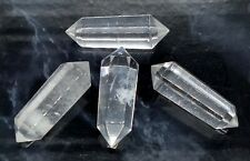 CLEAR QUARTZ DT POINTS WAND, Small, Ideal for Grids & Travel, 4 cm long, Healing