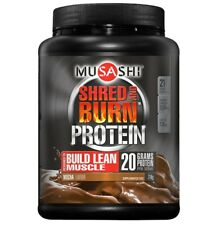 MUSASHI SHRED AND BURN 714G MOCHA FLAVOUR PROTEIN POWDER WEIGHT LOSS SHAKE