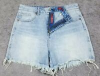 Lucky Brand Women's The High Rise Tomboy Denim Cut Off Jean Shorts 8/29 Stretch