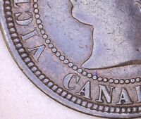Canada 1881 H One Cent DDO VG-F Check It Out!!  KM# 7  #AA114