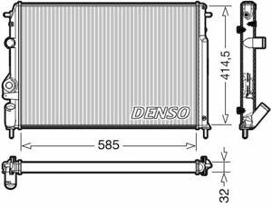 DENSO ENGINE COOLING RADIATOR FOR A RENAULT MEGANE ESTATE 1.9 47KW