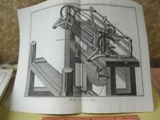 Vintage Print,METIER,Diderot Occupations,Machinery,c1770-80,p7