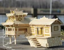 3D wooden puzzle building model Chinese woodcraft construction kit xiangxi house