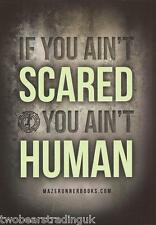 Postcard: The Maze Runner Books by James Dashner - If You Ain't Scared.. (Promo)