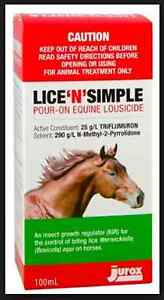 """Lice""""N""""Simple Pour-on Equine Lousicide for Horses"""