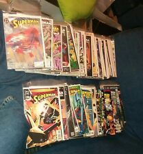 huge 124 issue superman man of steel dc comics lot 17 18 movie collection action