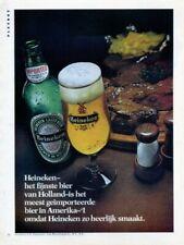 Vintage 1974 Heineken Lager Beer Original Print Ad