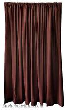 14' H Brown Velvet Curtain Extra Long Panel Tall Wall/Room Divider Cover Drapes