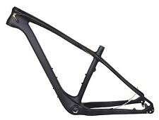 "20.5"" 26er Carbon Fat Bike Frame Snow Thru Axle 197mm MTB UD Matt 4.8"" Internal"